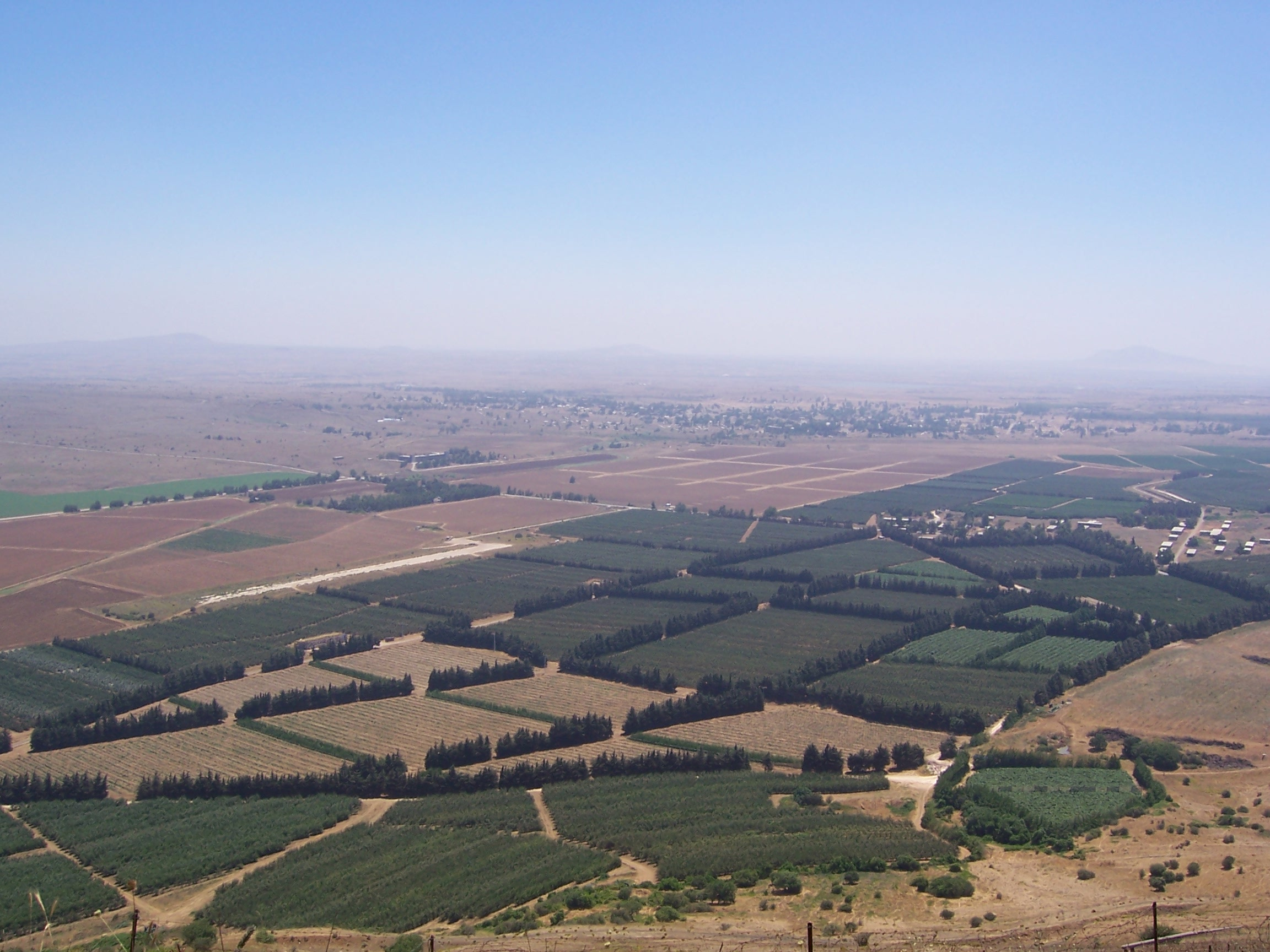 View of Galilee from the Golan Heights